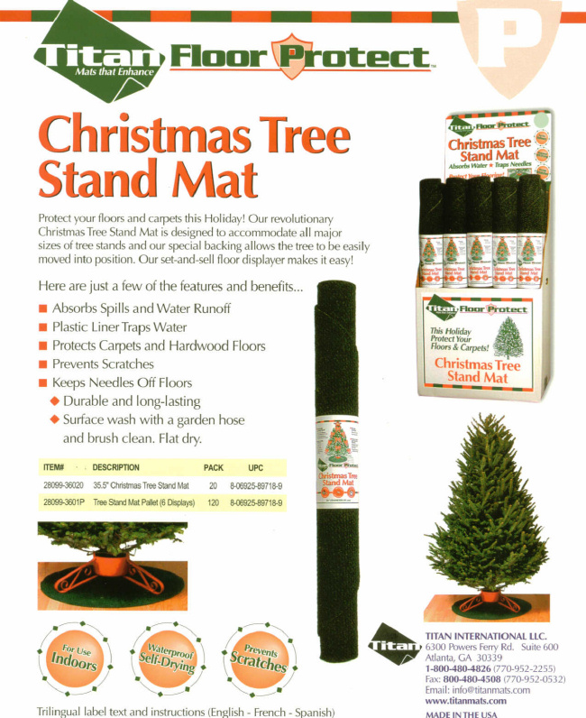 Christmas Tree - Christmas Tree Stand Mat